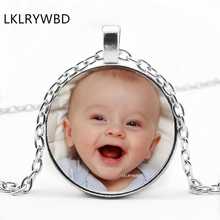 цена DIY Photo Custom Necklace Baby Boy Baby Girl Family Parents Brothers and Sisters Friends Personality Necklace Making Jewelry