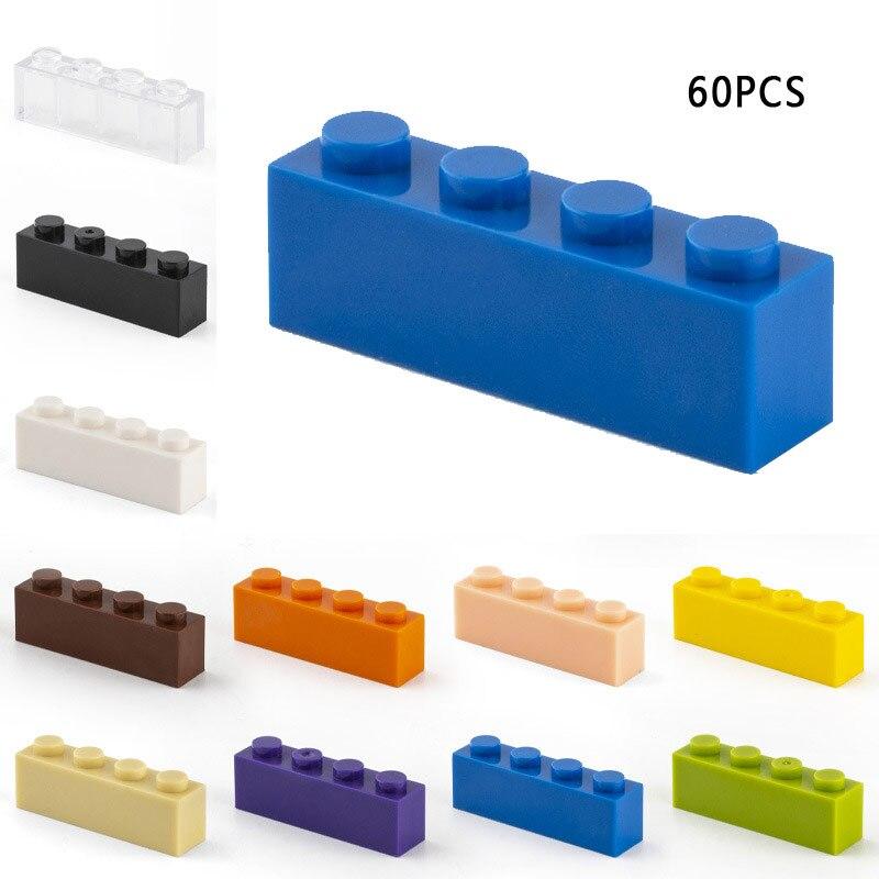 60 шт строительные блоки, 1x4 горошек толстые цифры блоки, Детские кубики, развивающие творческие Размеры подходит Другое бренд Пластик DIY игр...