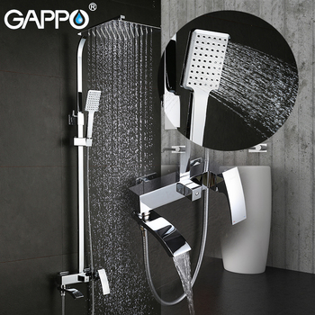 GAPPO Shower System bathroom shower faucet tap bath mixer bathtub faucet set waterfall shower set chrome rain shower head 10