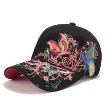 2019 New Baseball Caps High quality Butterflies and flowers embroidery Summer and fall caps fashion  women baseball hat brand new high quality 2017 kids baseball caps baby has