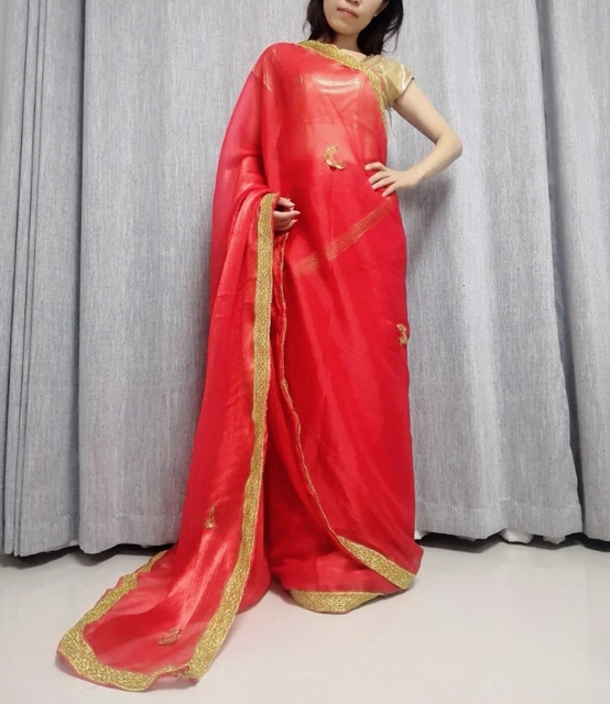 Indian Pakistani Dress Wedding Party Dress Sally For Women Clothing Red In Sari For Women In India 3