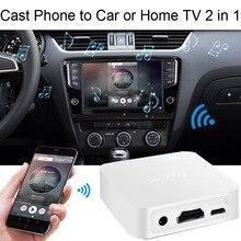 אלחוטי Wifi Dongle מקלט HDTV תצוגת וידאו מתאם HDMI ממיר עבור IPhone עבור Huawei אנדרואיד טלפון כדי רכב טלוויזיה