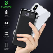 FLOVEME Power Bank 10000mah Portable Charger For iPhone Xiaomi MI Mobile External Battery Powerbank Digital Display Poverbank