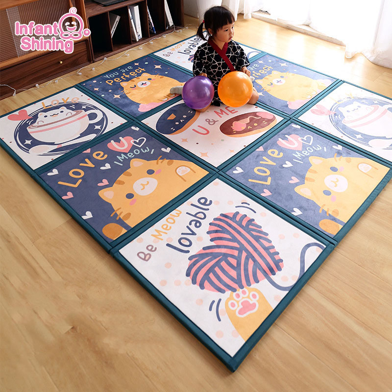 Baby Mat 2cm Jigsaw Puzzle Floor Mat Crawl Pad Stitched Floor Mat Splintered Family Children Thickened Foam Anti-fall Mat Tatami