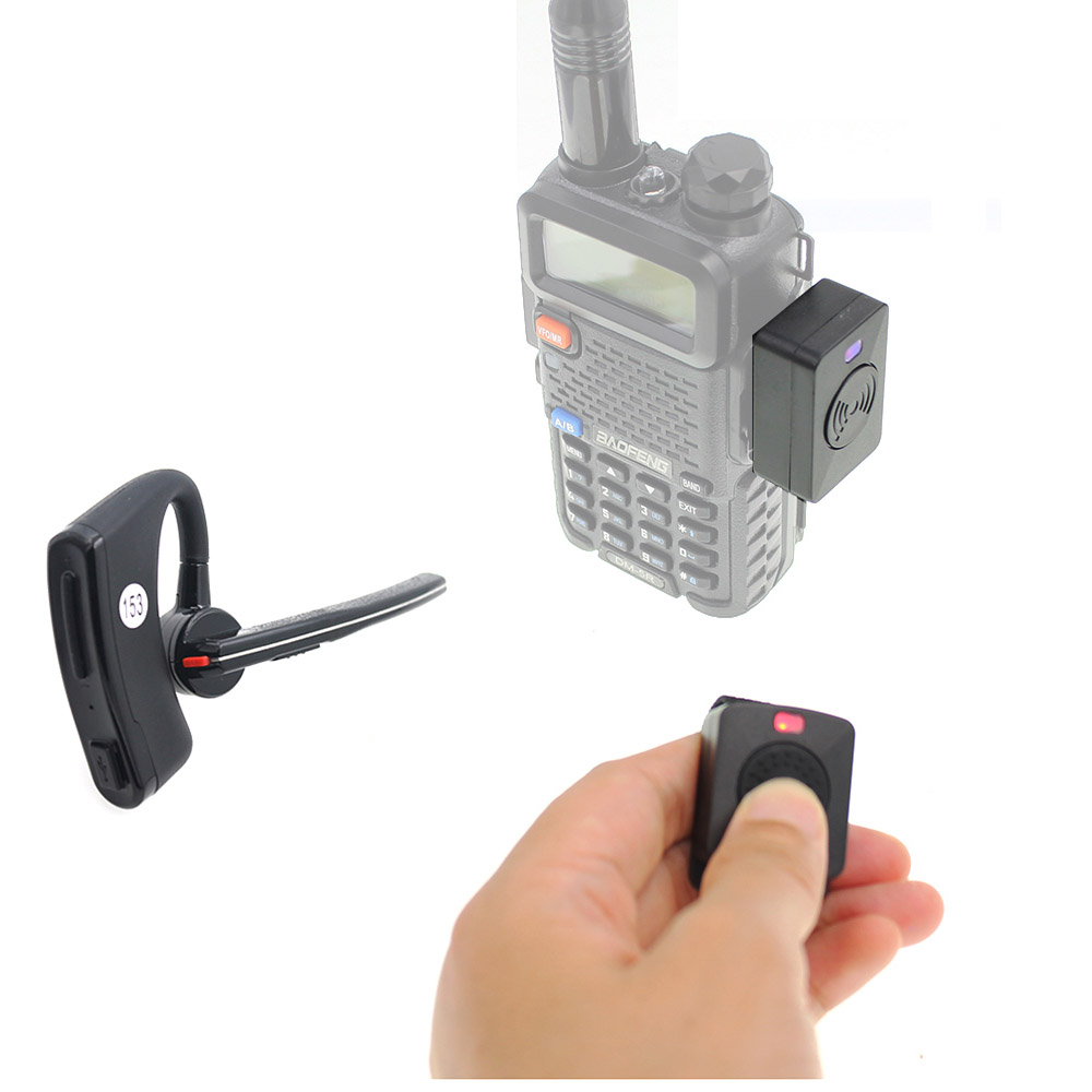 Walkie Talkie Handsfree Bluetooth PTT Earpiece Wireless Headphone Headset For BaoFeng UV-82 UV-5R 888S Two Way Radio Moto Bike