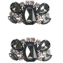 Women Crystal Shoe Clips Removable Rhinestone Shoe Buckles