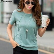 綿tシャツ夏原宿女性 2020 女性トップスtシャツルースフィットベーシックtシャツレディース半袖アンダーシャツHH09