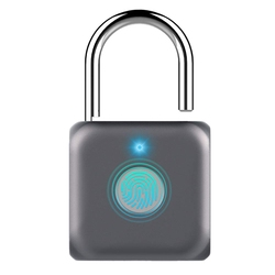 Kłódka linii papilarnych centralny zamek zamek biometryczny kabel Usb do ładowania dla plecak na zewnątrz  bagaż walizka  rower  biura  siłownia w Zamki elektryczne od Bezpieczeństwo i ochrona na