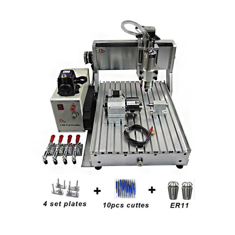 1500W 3 Axis 4 Axis Mini CNC 3040 Router Wood PCB PVC Metal Engraving Machine With Water Cooling Spindle