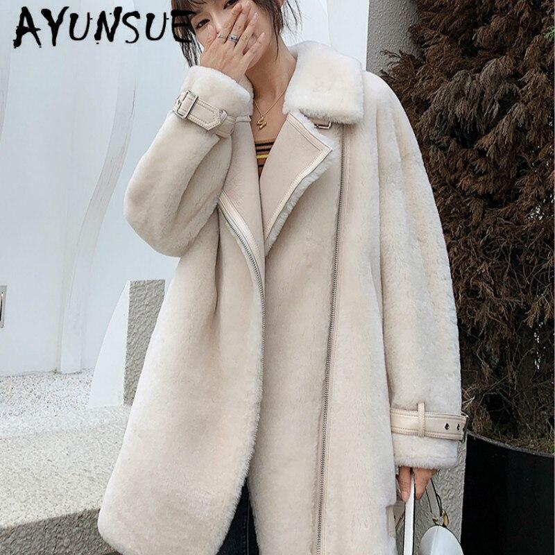 Mouton naturel cisaillement réel manteau de fourrure femmes 100% laine veste femmes vêtements 2019 hiver manteau femmes coréen fourrure hauts 8063 YY1847