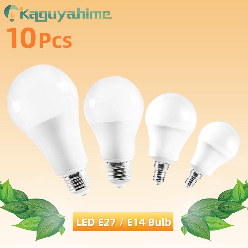 Kaguyahime 10Pcs E27 Bulb E14 LED Lamp 3W 6W 9W 12W 15W 20W Light Home Light 220V 240V Warm White Cold White Spotlight Lampadas