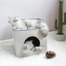 Новый домик для кошек складной четыре сезона двухслойный можно