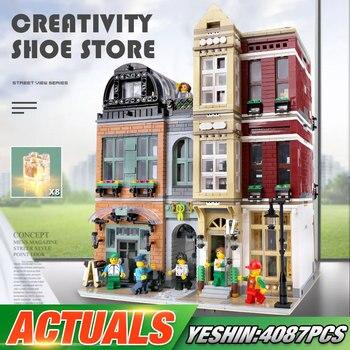 Yeshin 16001 Streetview bloques de construcción 10005 zapatos conjunto de tienda conjunto de bloques de modelismo bloques de construcción juguetes navideños para niños regalo
