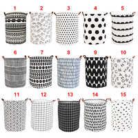 Foldable Laundry Basket Large Capacity Laundry Hamper Storage Bag Clothes Toy Picnic Printed Storage Organizer Bucket