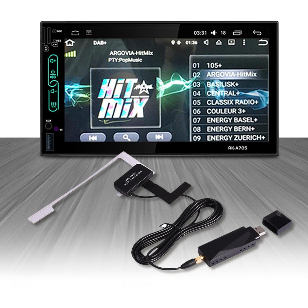 Universal DAB + Extension Antenna <font><b>USB</b></font> Portable Adapter <font><b>Receiver</b></font> For Android 4.4 5.1 6.0 7.1 Car Player For Europe Australia image