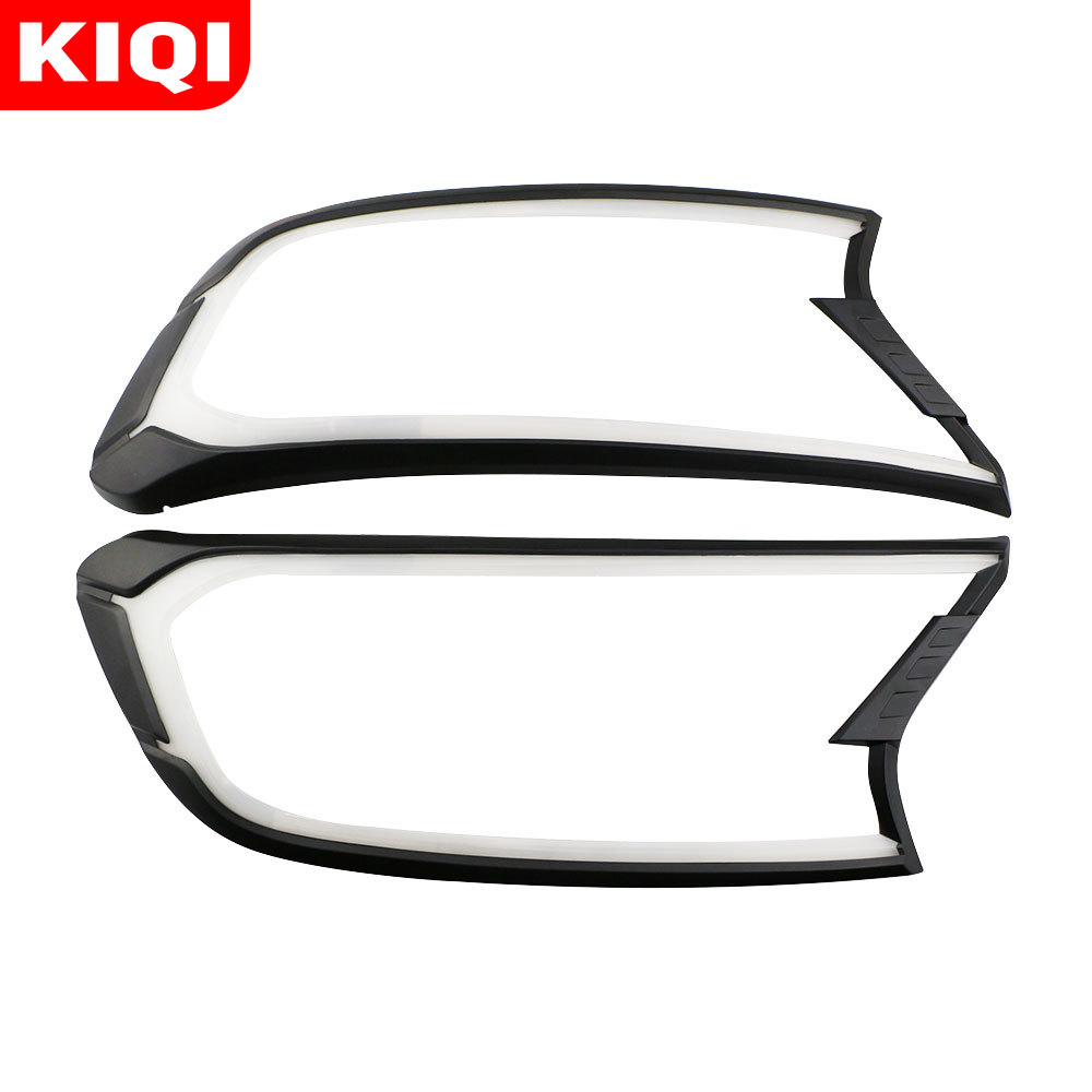 KIQI coche LED luces de circulación diurna DRL para Ford Ranger Ford 2015, 2016, 2017, 2018, 2019 de La Luz delantera de la cabeza de la lámpara 2 unids/set