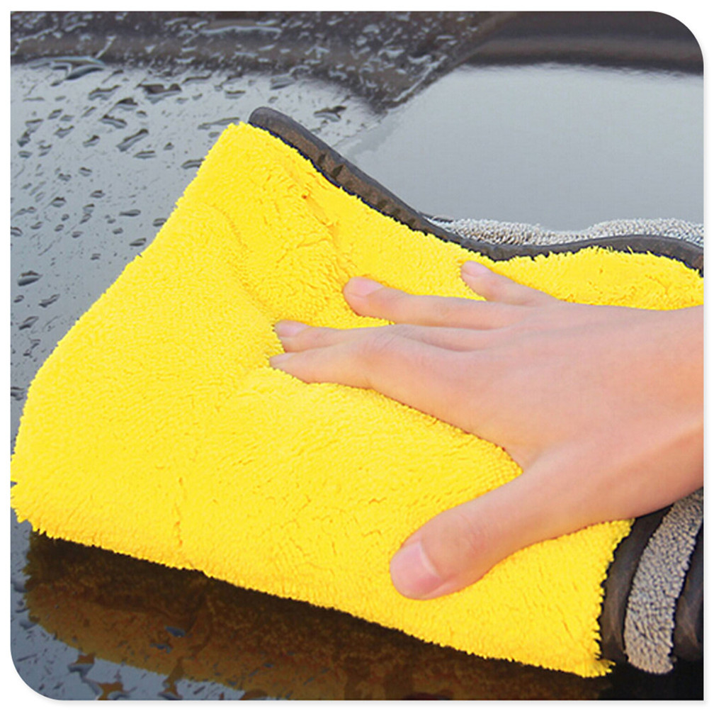 Утолщенной чистки автомобиля Полотенца бархатное микроволокно для AUDI-A6 VAUXHALL-CORSA bmw-3 купе HYUNDAI-SONATA