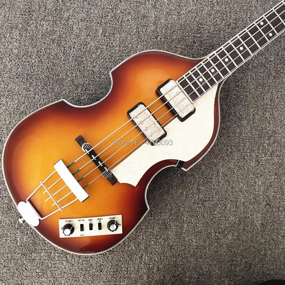 Hofner violon basse guitare, raccords d'importation, bouton Wilkinson, micros allemands, BB2 Icon série 4 cordes, tabac rafale CT vintage