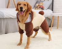 Windproof New Pet Costumes Luxury Meidum Cat Dog Christmas Sweater Suit For Cold Weather Ubrania Dla Kota Dogs Prouducts OO50JS