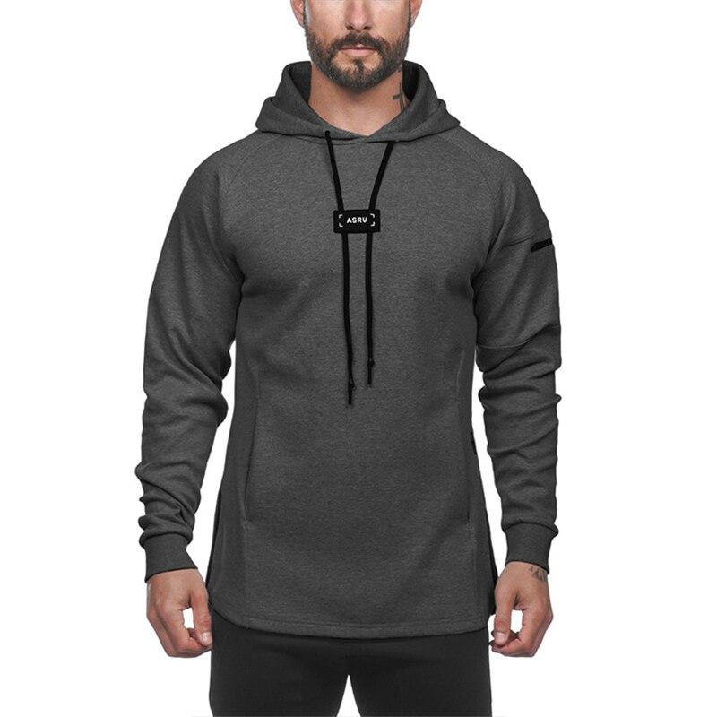 2020 Hooded Fitness Sport Hoodies Men Running Sweatshirt Tracksuit Gyms Hoodies Sportswear Training Sweatshirts Fitness Tops