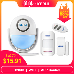 KERUI WIFI 120db ПИК охранная сигнализация для IOS/Android Приложении для дома Защита от взлома Хост детектора окна/двери