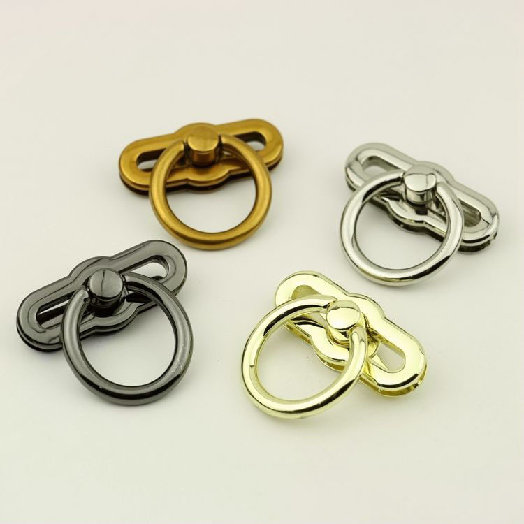 10pcs/lot Luggage Hardware Accessories Pale Golden Die Casting Twist Lock Mortise Lock Bag Lock Hardware Accessories