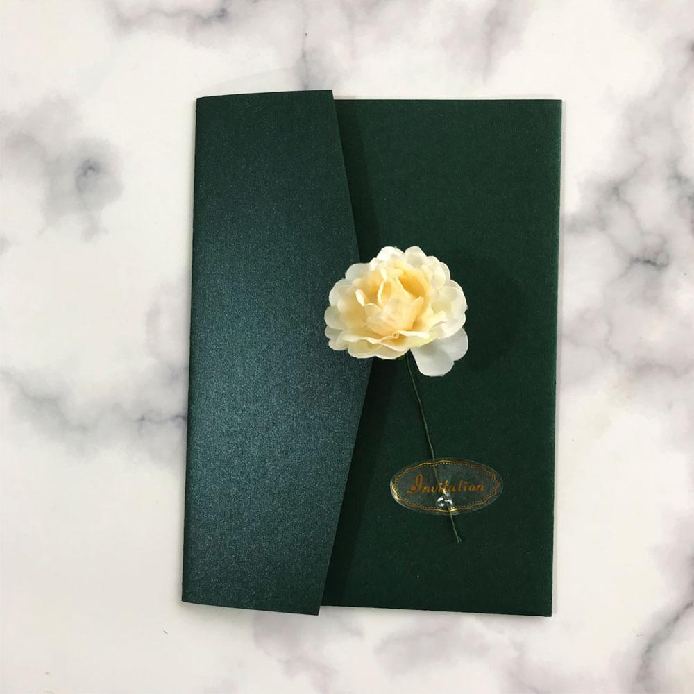 20pcs lot simple style wedding invitation card envelope flower design festival grand events birthday party