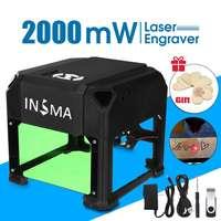 2000mW/3000mW Desktop Laser Engraving Machine USB DIY Logo CNC Printer Laser Engraver With Heart Wooden Board