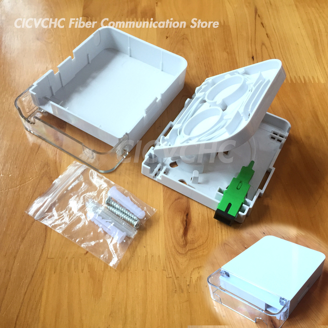 10pcs ไฟเบอร์กล่องเทอร์มินัล SC Simplex และฝุ่น/FTTH ODN