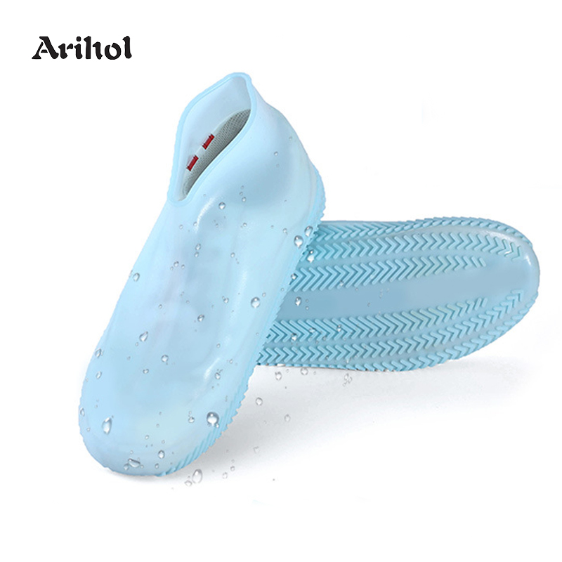 Rain Shoe Covers Reusable Silicone Foldable Waterproof Shoe Protectors Anti Slip Cycling Outdoor Rain Boots for Kids Women Men