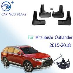 Para mitsubishi outlander 2015 2016 2017 2018 frente traseira do carro mud flaps mudflaps respingo guardas mud flap mudguards fender