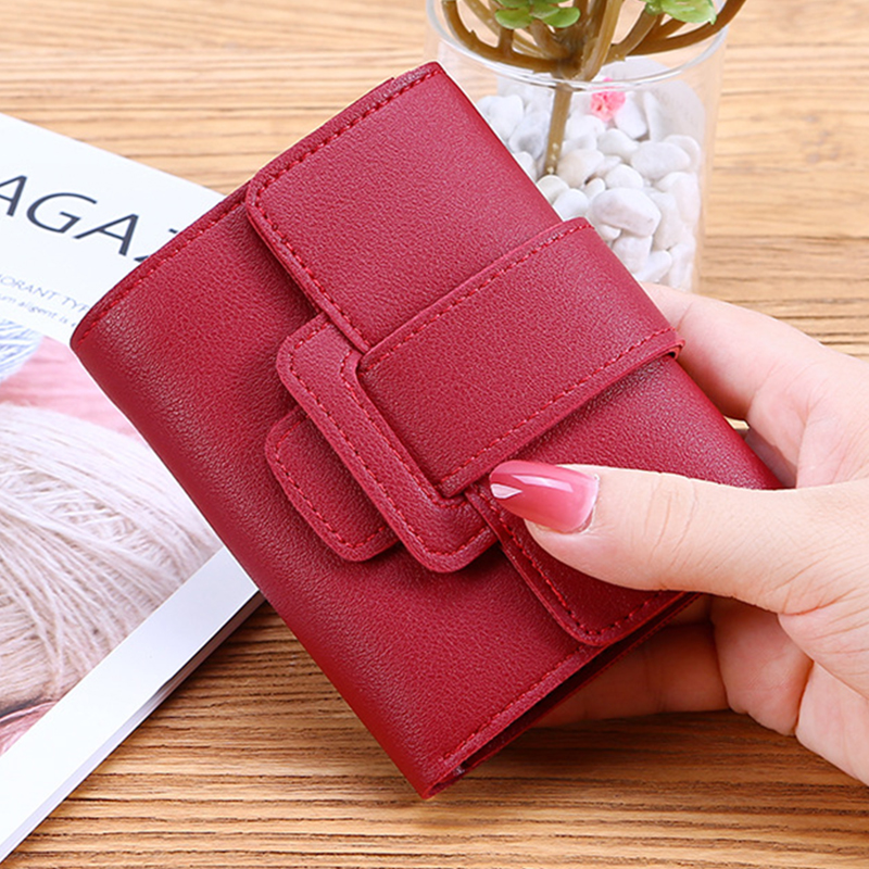 Hot Sale Women Purse Fashion Mini Leather Short Wallet  Luxury Brand Famous Female  Small Wallets And Purse Credit Card Holder