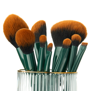 Image 4 - Jessup brush Makeup brush Trekking Green Powder Eyeshadow Concealer Foundation Make up brushes Rubber coated Synthetic hair