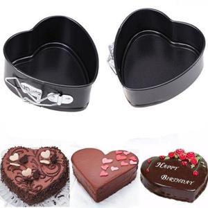 Image 5 - Moule à gâteau antiadhésif en forme de cœur, en métal à bricolage même, plateau à pain et fromage (fond aléatoire)