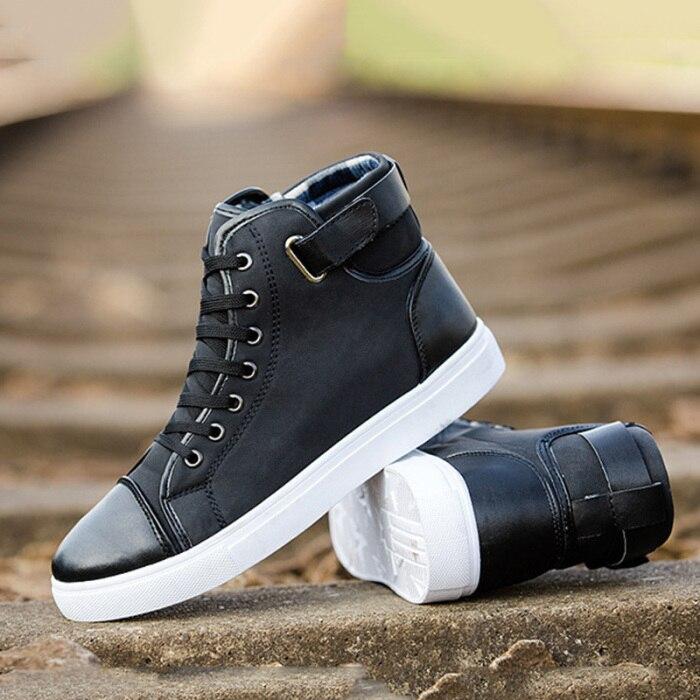 tênis sapatos oxfords sapatos de couro rendas outono inverno-b5