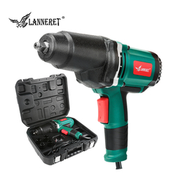 LANNERET 950W Elettrico Impact Wrench 450-550Nm Coppia Max 1/2 pollici Auto Presa Domestica Professionale Chiave Che Cambia di Strumenti di Pneumatici