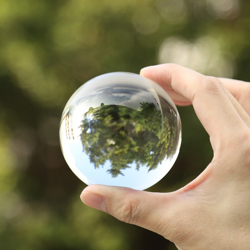 Clear Glass Crystal Ball Healing Sphere Photography Props Gifts New Spheres Glass Ball Photo  Artificial Crystal Decorative Ball