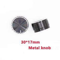 30x17mm WH148 perilla de potenciómetro EC11 codificador audio tapa de interruptor de botón, aluminio Metal pomos negro eje moleteado 6mm