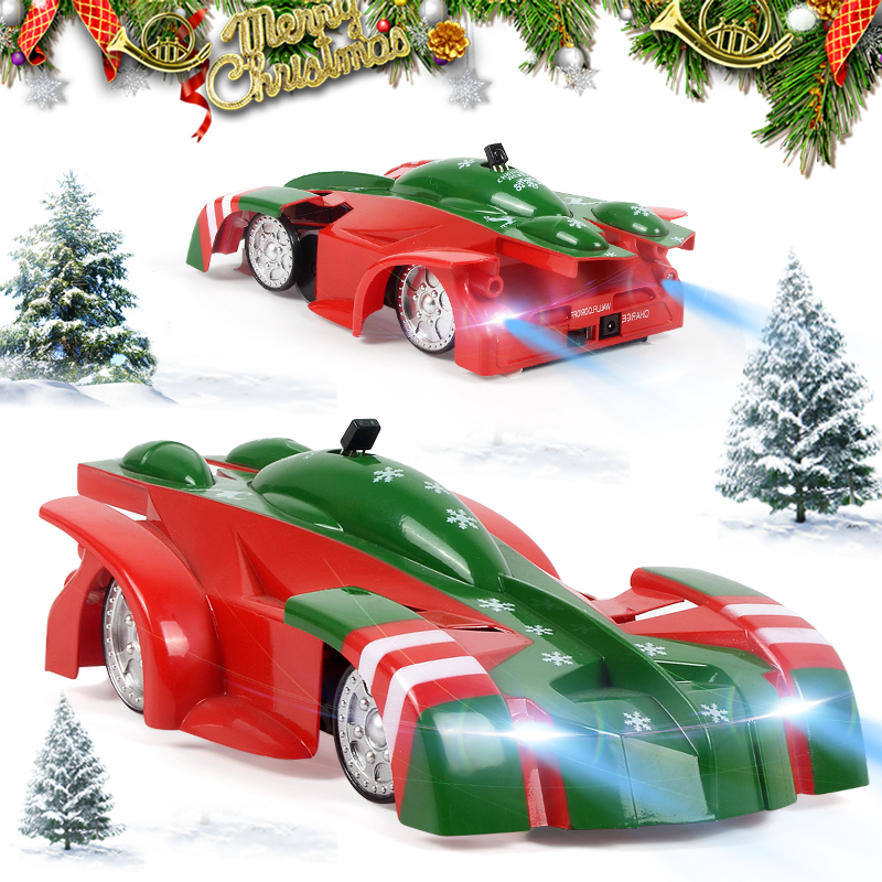 Christmas Version Wall Climbing RC Car Remote Control Anti Gravity Ceiling Racing Car Toys Machine Auto For Kids Boys Xmas Gifts