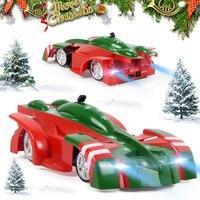 Wersja świąteczna zdalnie sterowany samochód wspinający się pilot anty grawitacyjny sufit zabawkowe samochody wyścigowe maszyna Auto dla dzieci chłopcy prezenty bożonarodzeniowe w Samochody RC od Zabawki i hobby na