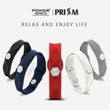 【FDA Registration】Power Ionics Prisma Impermeabile di Modo Delle Donne Degli Uomini di Ioni Germanio di Salute di Sport Del Wristband Del Braccialetto Regali Scatola Dura