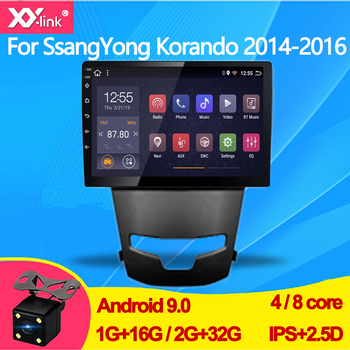 9 inch android 9.0 Car Multimedia GPS Navigation Radio Player for SsangYong Korando 2014 -2016 audio stereo camera no 2 din image