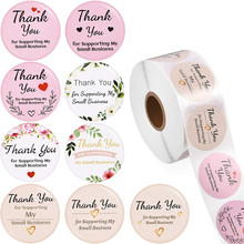 Stickers Designs Label Pink White for Supporting My Small Champagne Thank-You Package
