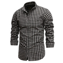 2021 New Spring 100% Cotton Plaid Shirt Casual Slim Fit Men Shirt Long Sleeve High Quality Men's Social Shirt Dress Shirts