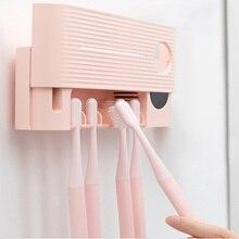 Youpin dispensador de pasta de dientes automático, esterilizador UV ultravioleta para cepillo dental, conjunto de baño