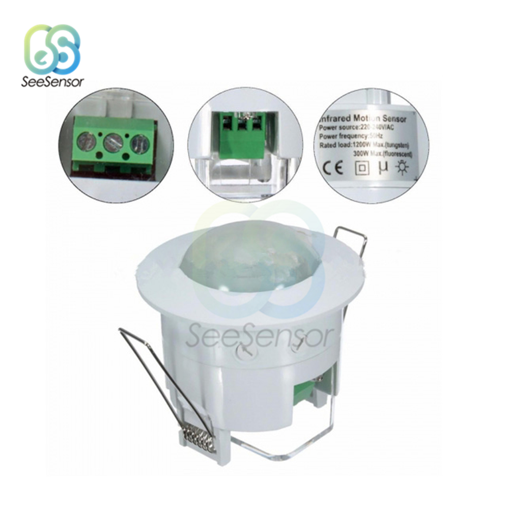 AC 110V 220V 240V 360 Degree Ceiling PIR Motion Sensor Switch IR Infrared Induction Sensor Detector Switch For LED Light Lamp