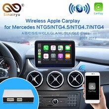 2021 אלחוטי Apple Carplay עבור מרצדס NTG5.0/4.5/4.7/4.0/B/C/E/S/GLK/GLA/GLC/SLK/ML Class אנדרואיד אוטומטי iOS מראה רכב לשחק