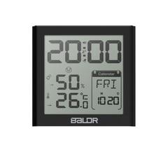 Цифровые часы Baldr с будильником, настольные часы с таймером и датчиком влажности в помещении и в спальне, настенный ЖК термометр с фоновой подсветкой