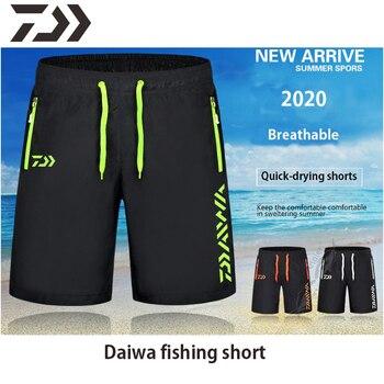 Daiwa Balıkçı Kıyafeti şort Pantolon Erkekler Yaz Nefes çok Cep Fermuar Balıkçılık Pantolon Spor şort Erkek Unisex XS-7XL