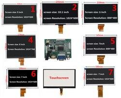 7/8/9/10.1 Polegada 1024*600 tela lcd com hdmi vga driver board monitor para framboesa/banana/laranja pi mini computador